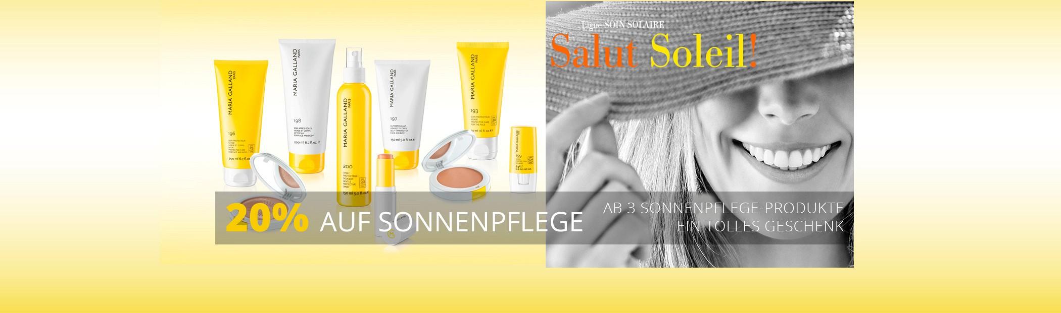20 Prozent auf Sonnenpflege Deutsch